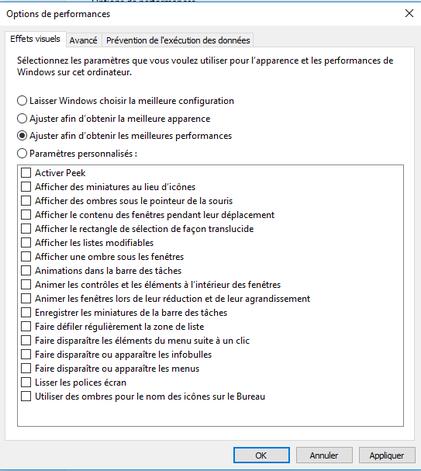 capture d'écran tutoriel accélérer windows