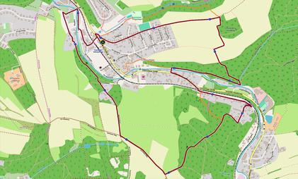 Rundwanderweg - erstellt mit Komoot basierend auf OSM Kartenmaterial