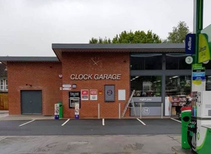 A new  garage opened in 2019 and after a vigorous social media by local people was once again named The Clock Garage and a clock installed.