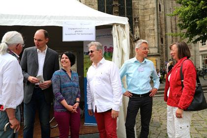 Das EngagementZentrum beim Stiftungstag Niedersachsen in Braunschweig im Sommer 2015.