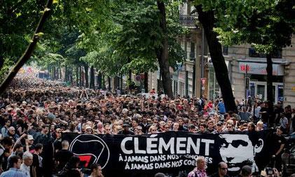 Mindedemo for Clément Méric i Paris