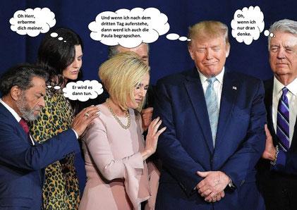 Die Scheinheiligen, Donald Trump und seine Jünger