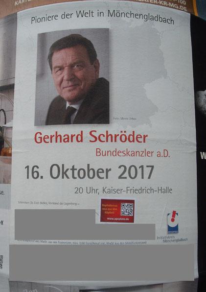 Gerhard Schröder in Mönchengladbach
