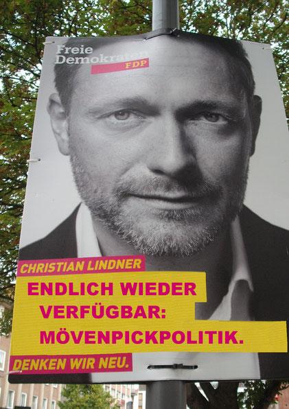 FDP Mönchengladbach, Wahlkampfplakat