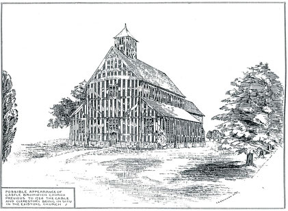 Castle Bromwich church in the 15th century (conjectural)