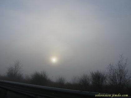 Начало Ялтинской трассы. Утро. Ничто не предвещало хорошей погоды.