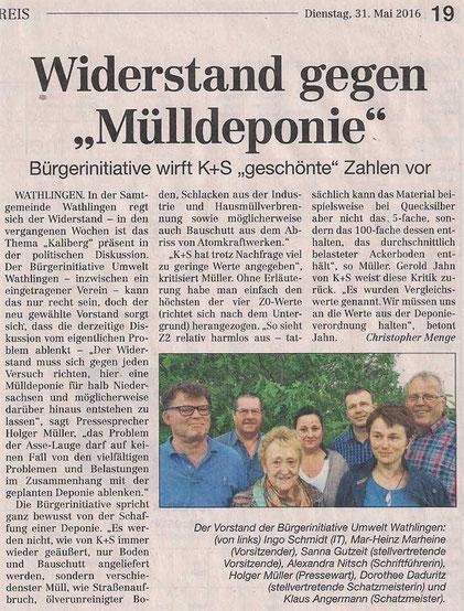 Quelle: Cellesche Zeitung, 31.05.2016