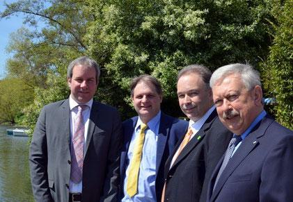 Die FDP geht mit Martin Weber, Ralf Witzel, Klaus Gräber und Eduard Schreyer an den Start.