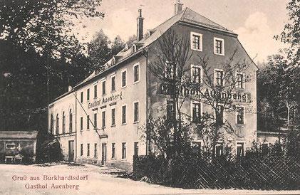 Der Gasthof Auenberg in der ersten Ausbaustufe