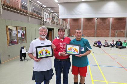 Klaus Klare (von links), Manfred Wille und Michael Schwenke