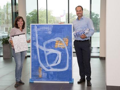 Anja Vogt und Erik Müller suchen nachhaltige Projekte aus der Region – für die es vier Kunstwerke zu gewinnen gibt.