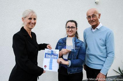 Gewinnerin Chiara Volland aus der IGS Osthofen.