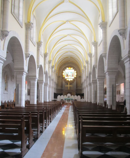 Inside St Catherine church