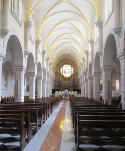 Inside St Catherine church