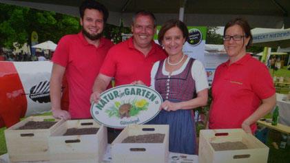 Landeshauptmann-Stellvertreterin Johanna Mikl-Leitner Aktion Natur im Garten