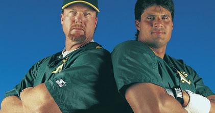 Nella foto Mark McGwire e Jose Canseco ( foto da  sports.yahoo.com)