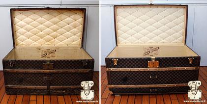 Malle courrier Louis Vuitton de 1890 Restauration du capiton et de l'entoilage