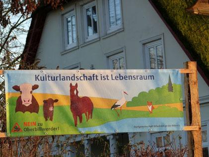 NEIN zu Oberbillwerder-Banner