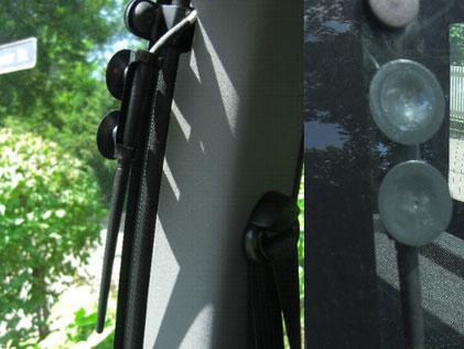 DVB-T Antenne am Seitenfenster hi. li.