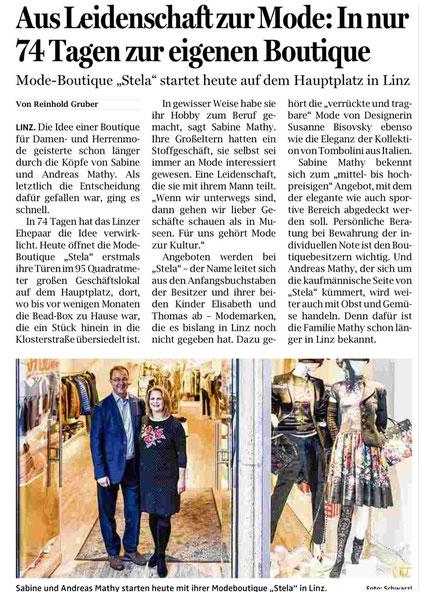 Quelle: Gruber, Reinhold: Aus Leidenschaft zur Mode: In nur 74 Tagen zur eigenen Boutique, In: OÖNachrichten (2015)