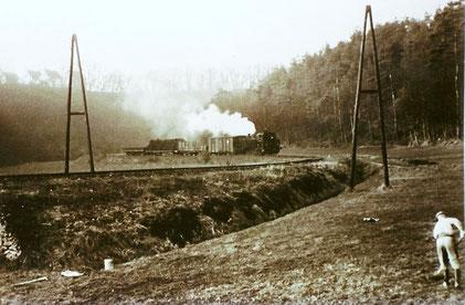 1961 Der Abbauzug zwischen Christianshütte und Eschenau