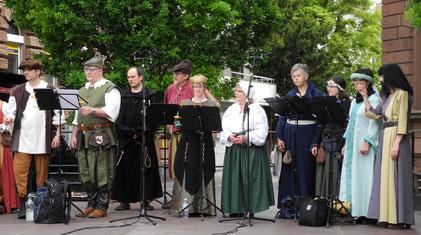 Mitglieder der Wormser Kantorei beim Festival wunderhoeren