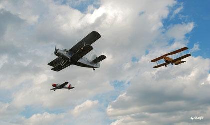Auch 2018 wieder mit dabei: Antonov, Tiger Moth und Chipmunk (Foto: Hartmut Haag)