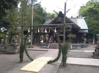 令和3年に十社大神の社頭に設置した『茅の輪』