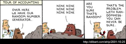 Dilbert - Zufallszahlen-Generator