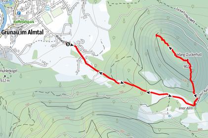 Wanderung Zuckerhut, Grünau im Almtal