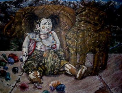 Stillleben     0,40 x 0,30 m     Acryl auf Leinwand  /  acrylic on canvas