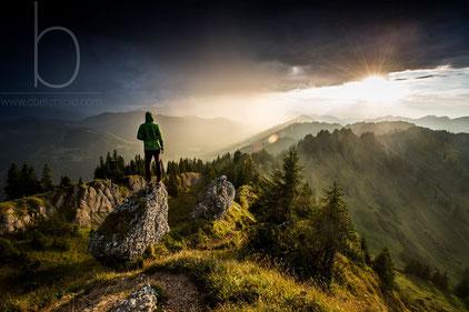 Gipfel Siplinger Kopf zu Sonnenuntergang