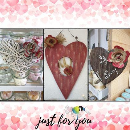 Avec presque rien , coeur, deco coeur, saint valentin, preuve d'amour, recyclage, rénovation d'objet, Sciez, Thonon, Haute- savoie, Leman, créa terra, rouge, passion