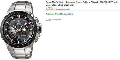 Casio Edifice EQW-A1000DB-1AJF price in UK