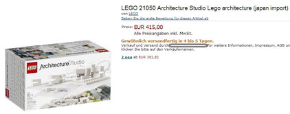 price of LEGO Architecture Studio 21050 in germany