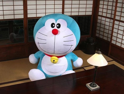 life size doraemon in japanese room