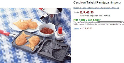 price of Cast Iron Taiyaki Pan in Germany