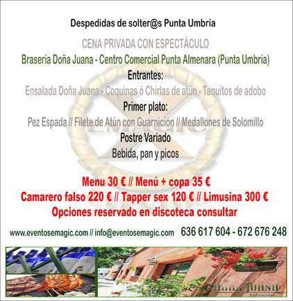 Restaurante para despedidas en Punta Umbría