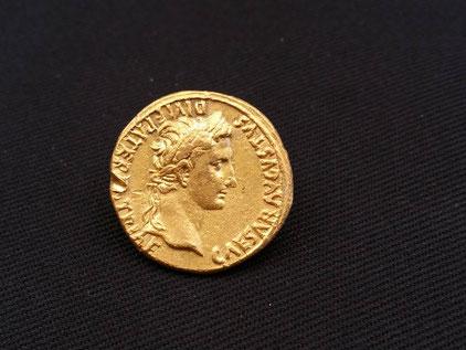 Roman coin front Augustus Caesar