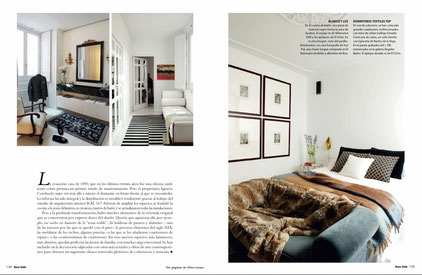 Mesilla de noche y alfombra en dormitorio (que no se ve) de The Interiorlist*