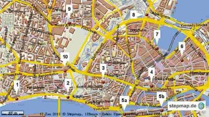 Rikscha, Hamburg Top 10