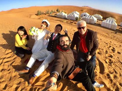 モロッコのサハラ砂漠でのフォトウェディング撮影、無事に終了!