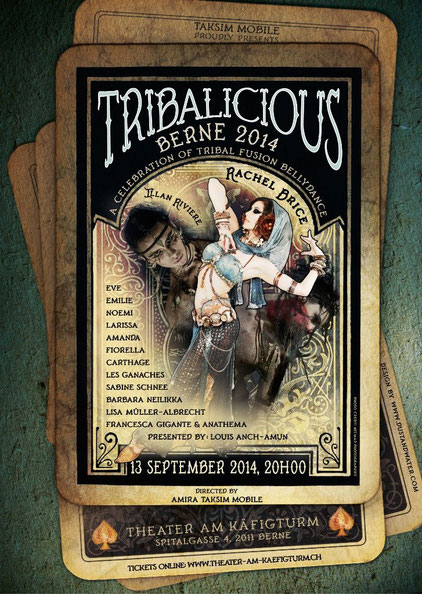 Tribalicious Berne 2014, Tickets: www.theater-am-käfigturm.ch