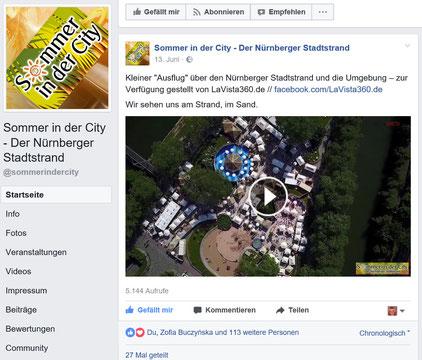 Drohnenaufnahmen Luftbild Drohnenvideo Nürnberg Stadtstrand