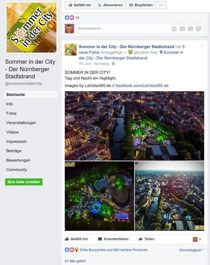 Drohnenaufnahmen Luftbild Drohnenbild Nürnberg Stadtstrand