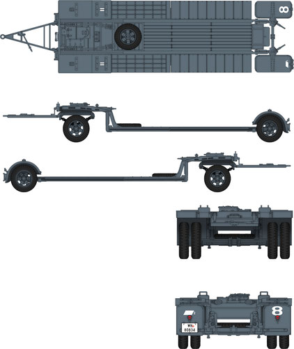 DW35002 Das Werk//Custom-Scale 1:35 Sonderanhänger 115 10t tank trailer Neuheit
