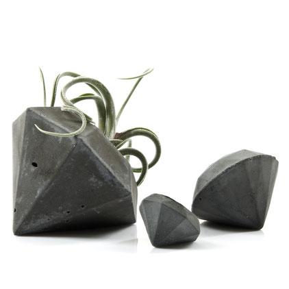 Concrete Diamond Air Plant Vase by PASiNGA
