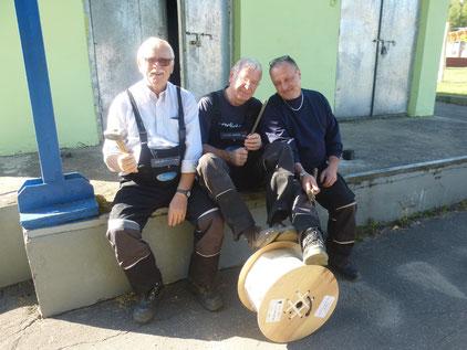 Drei lustige Handwerker