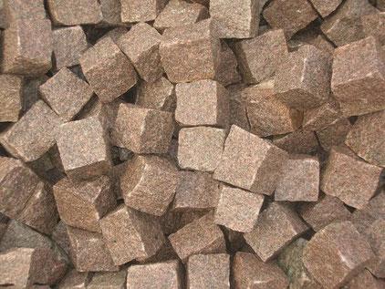 Braune Pflastersteine aus Schweden