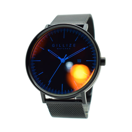 GILLIZE WATCHES MENO -black&blinded-